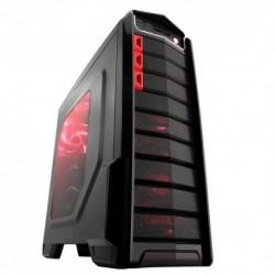"CASE ITEK M.TOWER GAMING ""THE ALIEN"",  USB3, 3x12cm RED fan,Trasp Wind, Docking hot swap HDD/SSD - NO ALIM. BK"