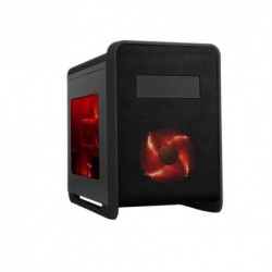 "CASE ITEK M.TOWER GAMING cube ""ECLIPSE"",  USB3, 1x12cm RED fan, Trasp Wind, ODD/HDD kit, - Card reader - NO ALIM., BK"