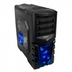 "CASE ANTEC M.TOWER ""GX-505 BLU"", 2x5.25""- 4x3.5"", 1*2.5"",  2XUSB 3.0 , 3*VENT. 120mm LED BLU+ 3opz. , NO ALIM. , BK ,ATX"