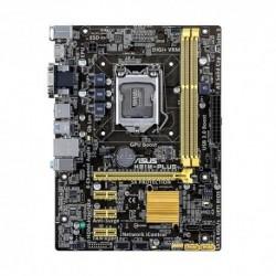 MB ASUS H81M-PLUS H81 LGA1150 2DDRIII VGA+DVI+HDMI PCIe-16x 2*SATA3 2*SATA2 mATX