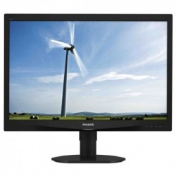 "MONITOR PHILIPS LED 24"" 16:10 240S4QYMB/00 IPS 0.270 1920x1200 250cd/m²1000:1(20.000.000:1)2x1.5W MM RegH Pivot DVI VGA Black"