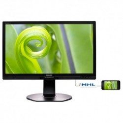 "MONITOR PHILIPS LED 23.8""Wide 241P6EPJEB/00 IPS 1920x1080 250cd/mq 1000:1 (20.000.000:1) 2x2W MM Pivot RegH VGA DVI HDMI DP 4USB"