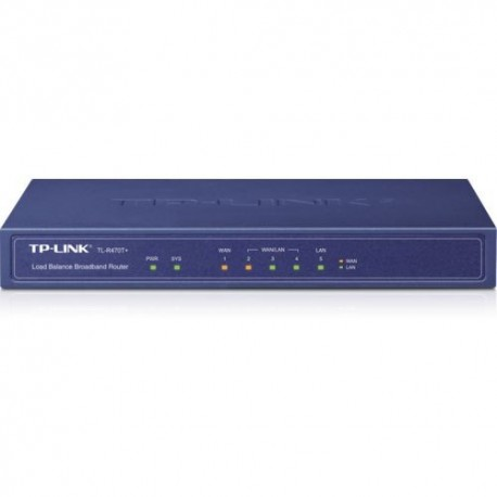 ROUTER TP-LINK TL-R470T+ 5P Multi-Wan per Small Office and Net Cafe, Advanced firewall, Configurabile fino a 4P Wan
