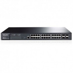 SWITCH TP-LINK TL-SG3424P 24P LAN GIGABIT PoE 10/100/1000Mbps 802.3AT/AF + 4 SLOT SFP COMBO, RACKMOUNTABLE RJ45 CASE ACCIAIO