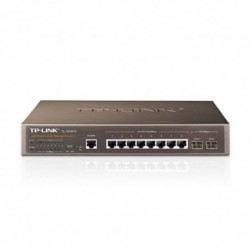 SWITCH TP-LINK TL-SG3210 8P LAN GIGABIT 10/100/1000Mbps + 2 SLOT SFP COMBO , RACKMOUNTABLE RJ45 CASE ACCIAIO