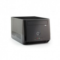 "CASE ITEK MINI ITEK ""nCUBE"" 200W, 2*USB2 Audio Front, Fan 8cm, 1x5,25'' 1x3,5'' BK - ITMA8989B"