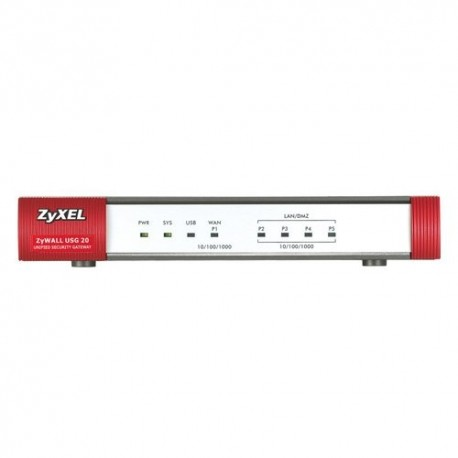 FIREWALL ZYXEL ZYXUSG-20 VPNx2 5P 10/100/1000 WAN+4*LAN/DMZ supporto Content Filtering USB con supporto UMT/3G, SSL VPN ANTISPAM