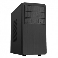 "CASE ITEK MICRO ATX MINI TOWER PHANTOM ITM89BE 500W USB 2.0 + Audio- Fan 12 cm 2x5.25"" - 6x3.5""- Brushed Effect - Nero"