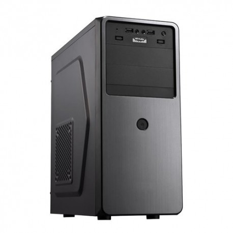 "CASE ITEK M.TOWER ""OCEAN"" 500W, 2*USB2 Audio Front- Cable Managment - BK (Effetto Spazzolato) - ITOCA35"